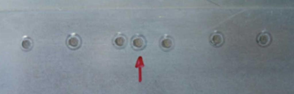 Defeito de soldagem conhecido como ponto de solda extra